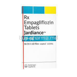 Jardiance, Empagliflozin, 90(9x10) Film coated tablets, Boehringer Ingelheim, box front presentation
