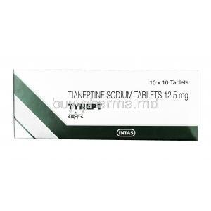 Tynept, Tianeptine 12.5 mg,Tablet, box