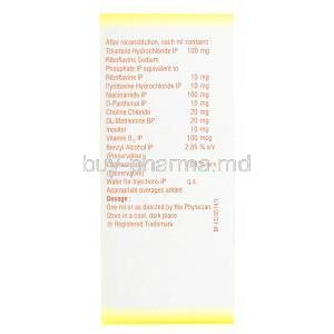 Beplex Forte Injection, ingredient list