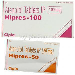 Hipres, Atenolol 50 Mg And 100 Mg