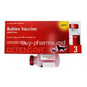 Defensor 3 Rabies Vaccine for Animals