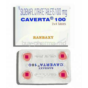 Caverta, Sildenafil Citrate 100mg Tablets