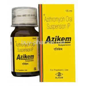 Azikem, Generic Zithromax, Azithromycin Oral Suspension 100mg per 5ml 15ml