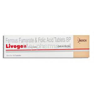 Livogen, Ferrous Fumarate/ Folic Acid  Tablets