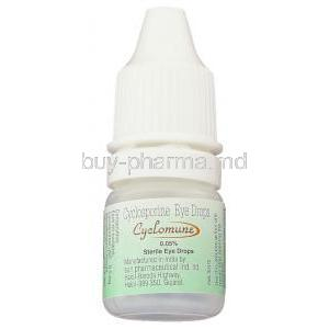 Cyclomune, Generic  Restasis,  Cyclosporine Eye Drop Bottle