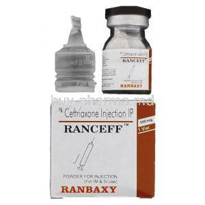 Ranceff 250, Generic  Rocephin,   Ceftriaxone Injection