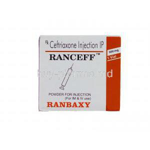 Ranceff 250, Generic  Rocephin,   Ceftriaxone Injection Box