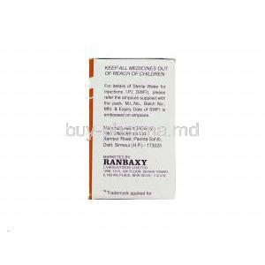 Ranceff 250, Generic  Rocephin,   Ceftriaxone Injection Manufacturer Information
