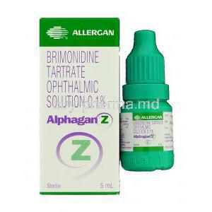 Alphagan Z, Brimonidine Tartrate Eye Drop