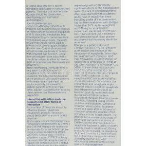 Novonorm, Repaglinide 0.5 mg information sheet  3