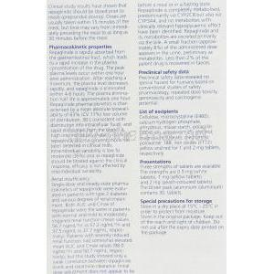 Novonorm, Repaglinide 0.5 mg information sheet 7