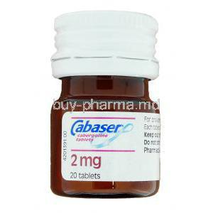 Cabaser Cabergoline 2 mg bottle