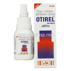 Otirel, Ofloxacin/ Clotrimazole/ Beclomethasone Dipropionate/ Lignocaine Ear Drops