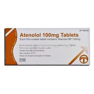 Atenolol 100 mg box