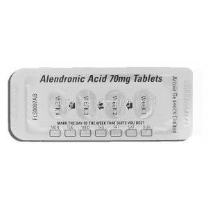 Alendronic Acid 70 mg packaging