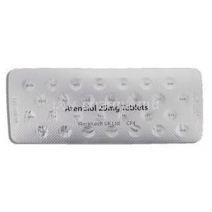 Atenolol 25 mg packaging