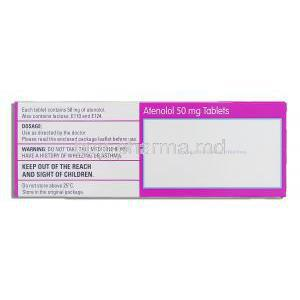Atenolol 50 mg composition