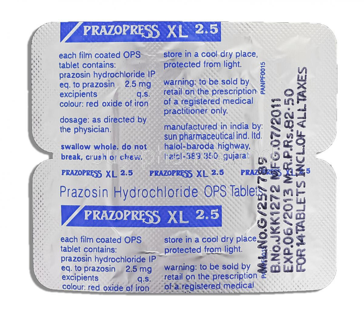 Prazopress 1 mg unit