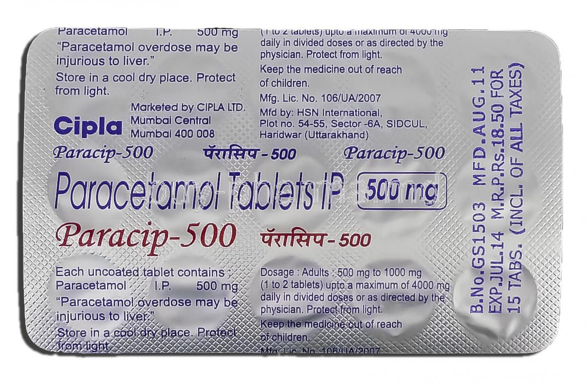 Panadol Dosage 500 Mg