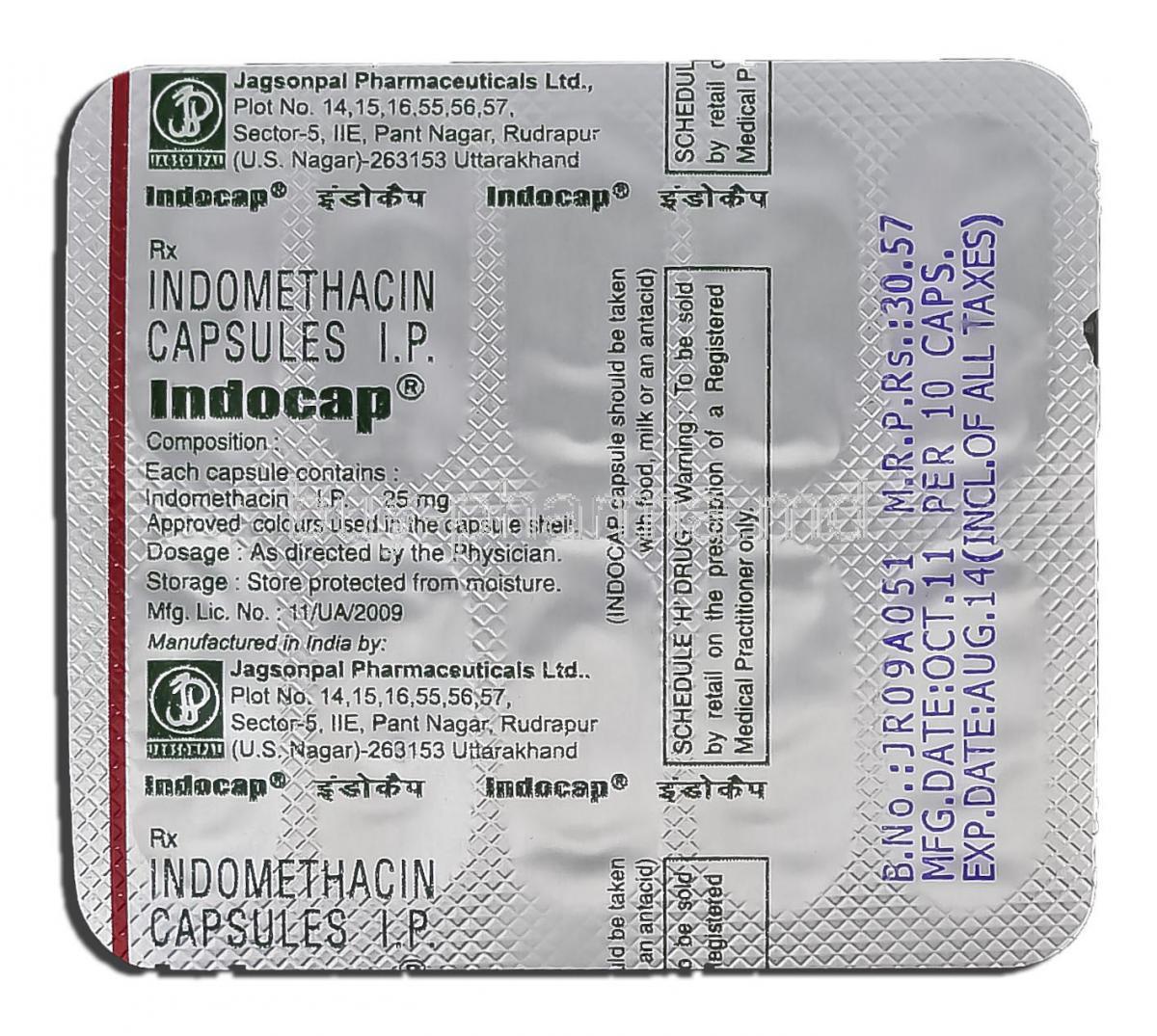 Generic Indocin Sr 75mg