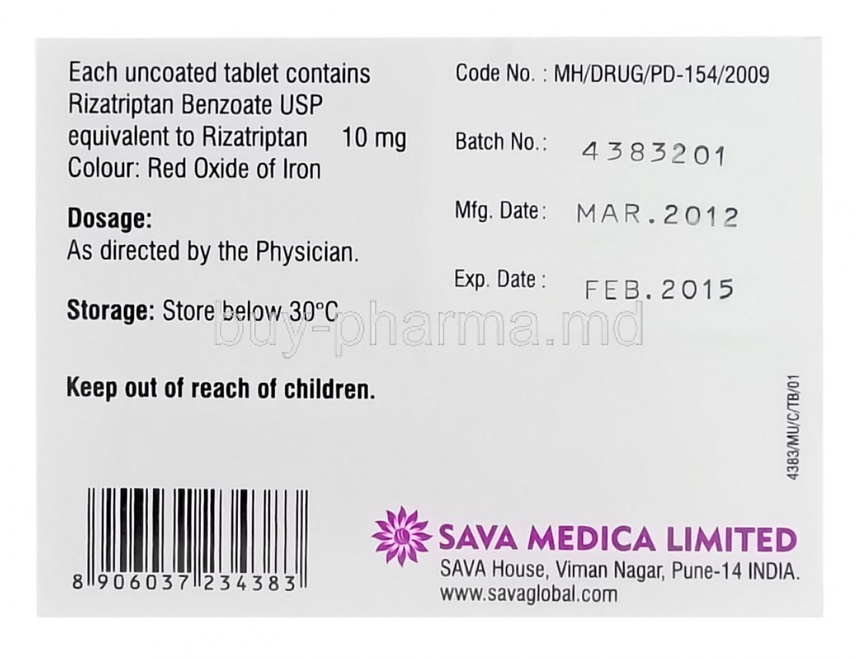 Maxalt dose