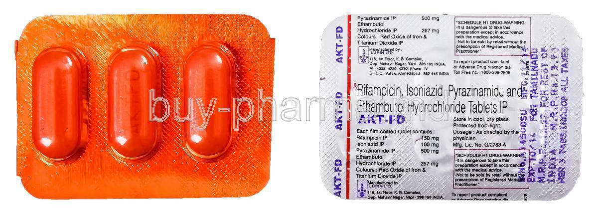 Rifampicin Isoniazid Ethambutol Hydrochloride Tablets