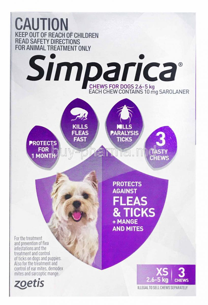 Buy Simparica Chwable For Dogs Online