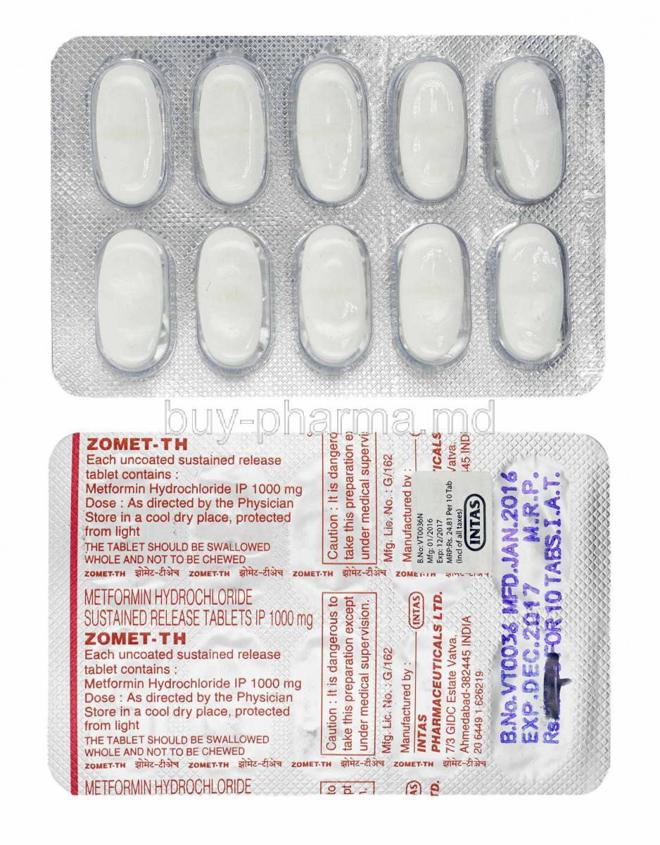 metformin hcl 1000