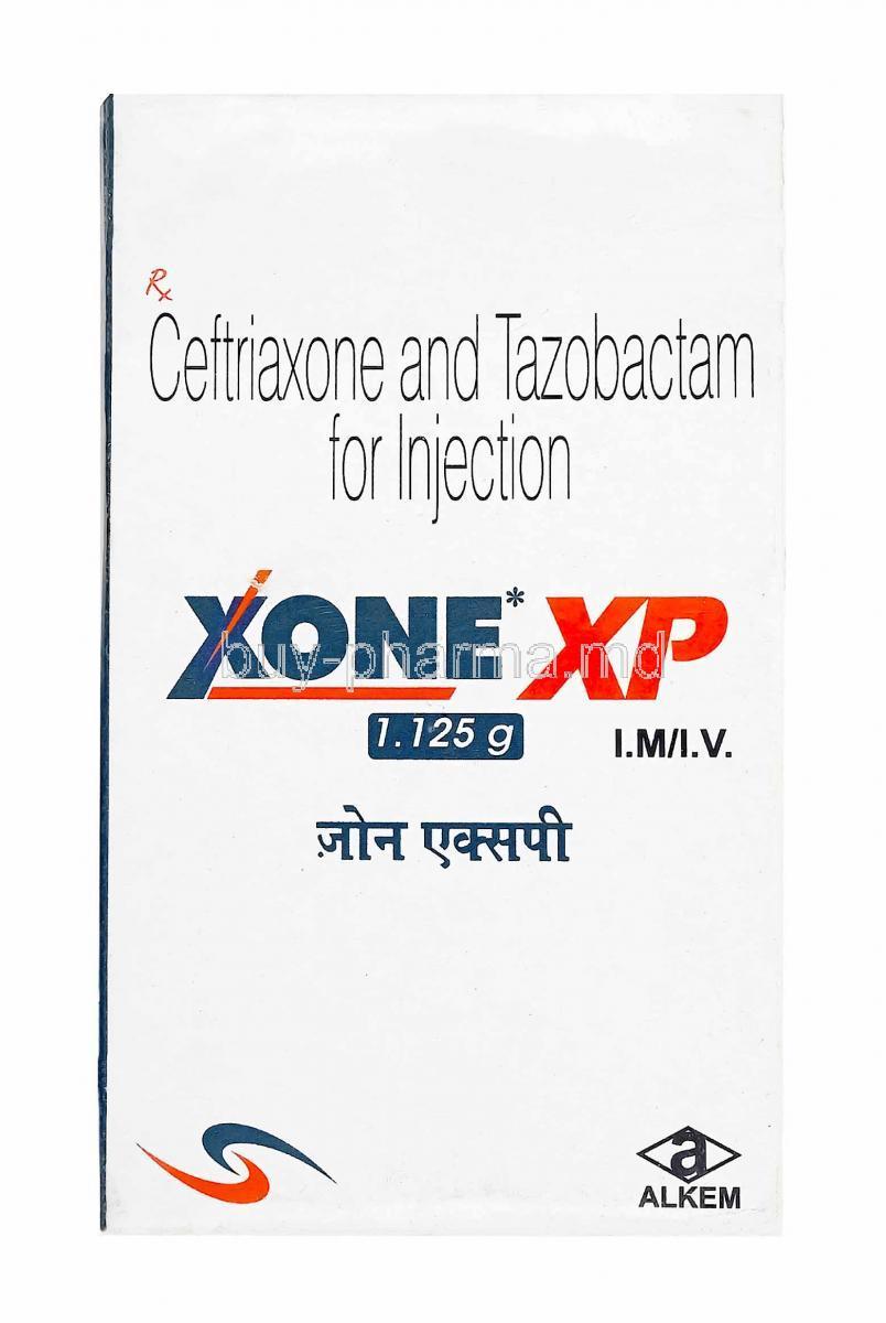 Buy Xone Xp Injection, Ceftriaxone/ Tazobactum Online