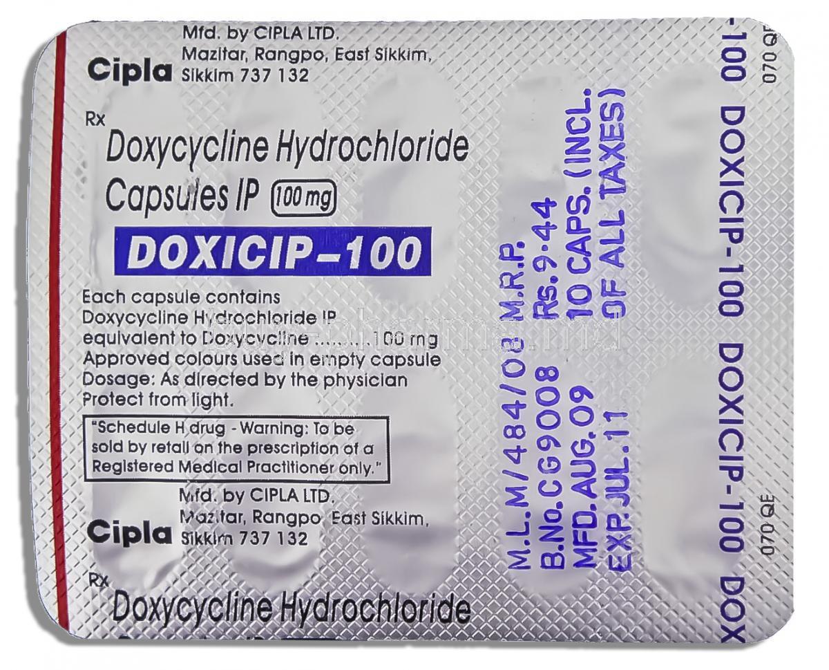 Shidox, Doxycycline HCL, 100mg, Box
