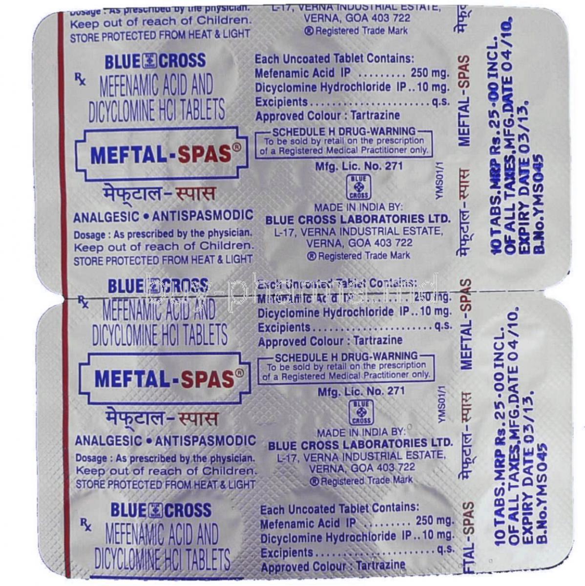 Get Mefenamic acid Online
