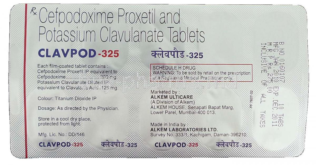 buy cefpodoxime   clavulanate potassium tabletonline