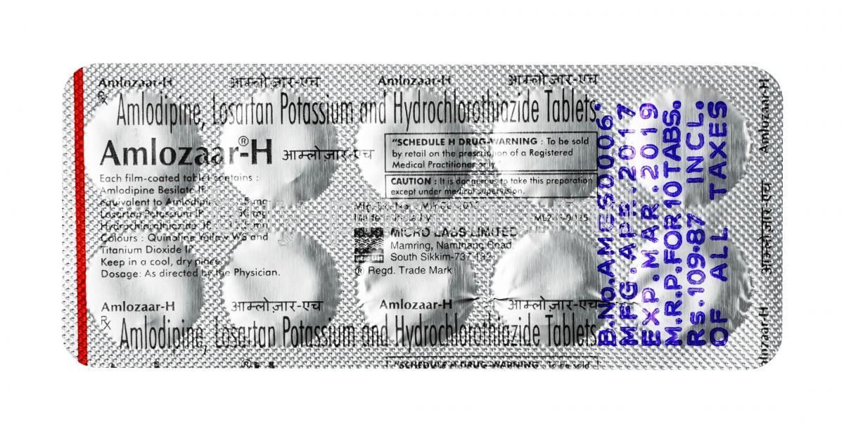 LOSARTAN POTASSIUM/HYDROCHLOROTHIAZIDE 100/25 MG …