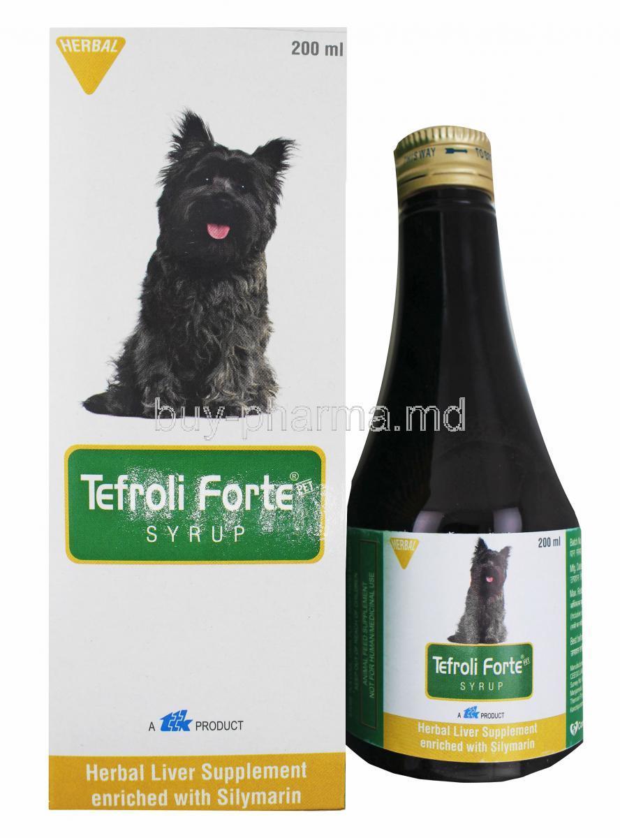 Buy Tefroli Forte Syrup Herbal Liver Supplement For Dogs