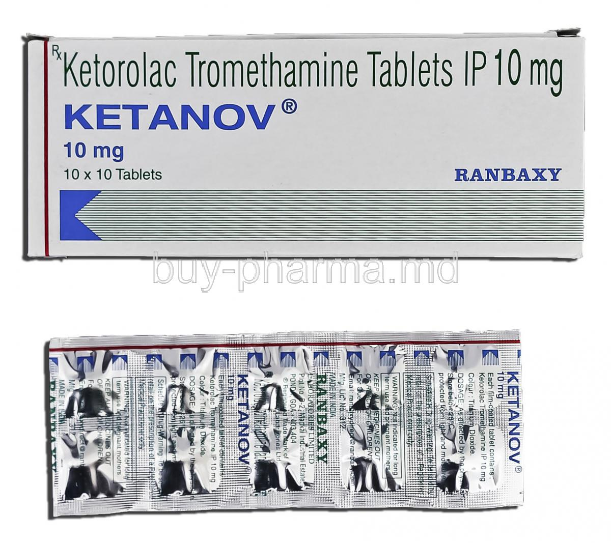 Ketorol tabletleri
