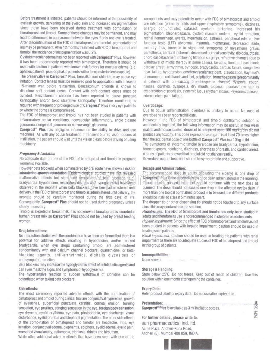 bimatoprost generic